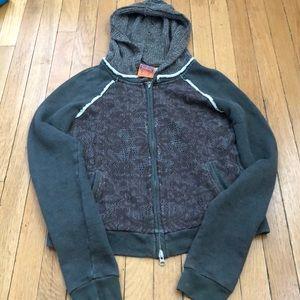 FREE PEOPLE size M full zip hoodie gorgeous